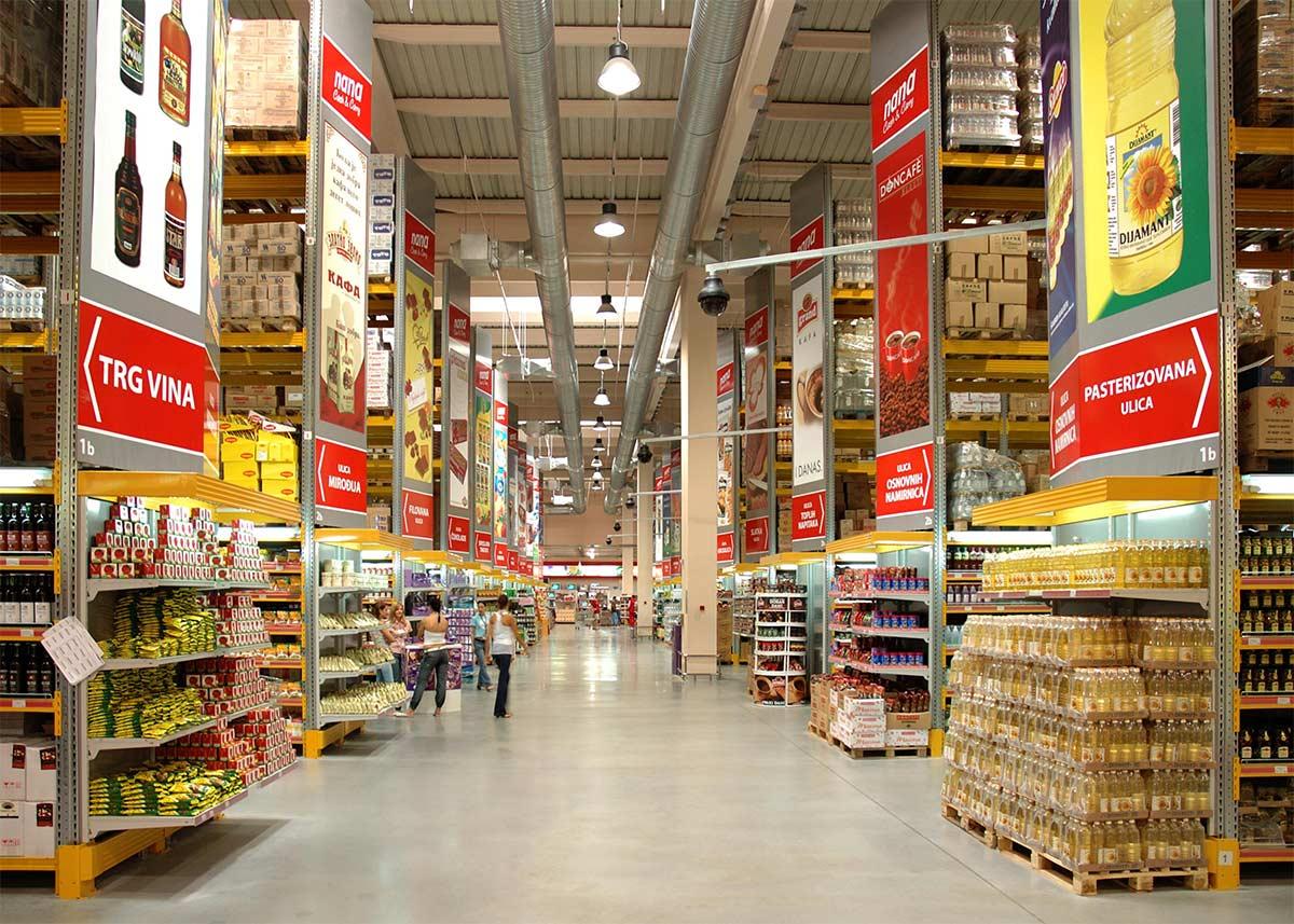 scaffalature metalliche per negozi supermercati