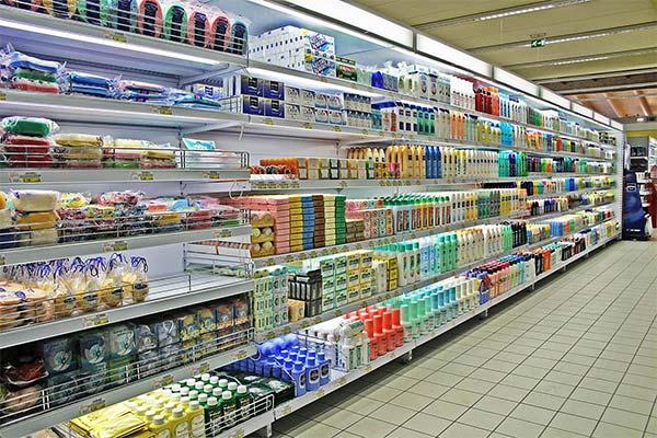 scaffale a gondola supermerc